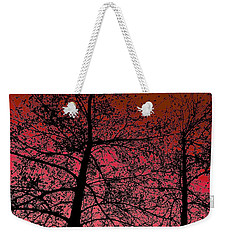Alder Trees Against The Winter Sunrise Weekender Tote Bag