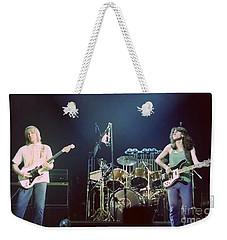 Alex Geddy And Neil Weekender Tote Bag