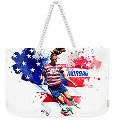 Alex Morgan Weekender Tote Bag by Semih Yurdabak