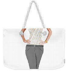 Weekender Tote Bag featuring the digital art Alex by Nancy Levan