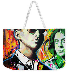 Weekender Tote Bag featuring the painting Alex Turner by Richard Day