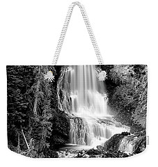 Weekender Tote Bag featuring the photograph Alexander Falls - Bw 1 by Stephen Stookey