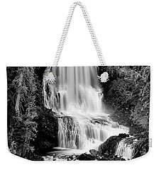 Weekender Tote Bag featuring the photograph Alexander Falls - Bw 2 by Stephen Stookey