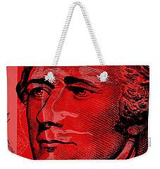 Alexander Hamilton - $10 Bill Weekender Tote Bag by Jean luc Comperat