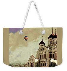 Weekender Tote Bag featuring the digital art Alexander Nevsky Cathedral In Tallin, Estonia, My Memory. by Jeff Burgess