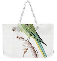 Alexandrine Parakeet Weekender Tote Bag by Nicolas Robert