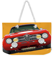 Alfa Romeo Gtam On Yellow Weekender Tote Bag