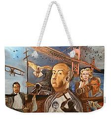 Alfred Hitchcock  Weekender Tote Bag by Charles Paine
