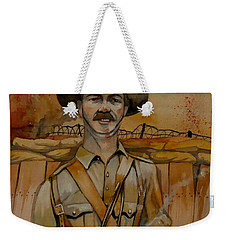 Weekender Tote Bag featuring the painting Alfred Shout Vc by Ray Agius