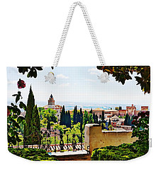 Alhambra Gardens, Digital Paint Weekender Tote Bag