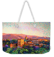 Weekender Tote Bag featuring the painting Alhambra, Grenada, Spain by Jane Small