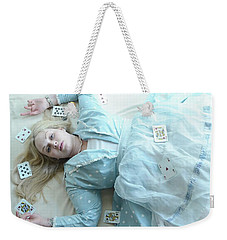 Alice In Draws The Card... Weekender Tote Bag