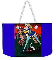 Alice's  In Wonderland Weekender Tote Bag