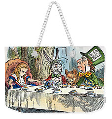 Weekender Tote Bag featuring the photograph Alices Mad-tea Party, 1865 by Granger