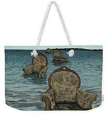 Weekender Tote Bag featuring the drawing Alices Tears by Meg Shearer