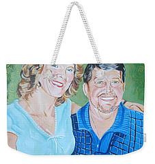 Alicia And Lee Weekender Tote Bag by John Keaton