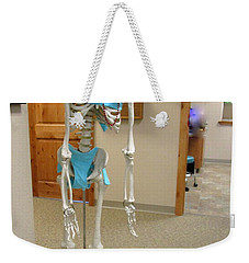 Weekender Tote Bag featuring the photograph Alien Beyond The Door by Marie Neder