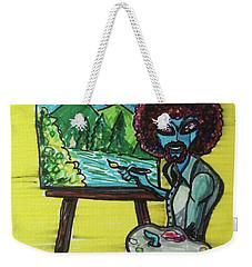 alien Bob Ross Weekender Tote Bag by Similar Alien