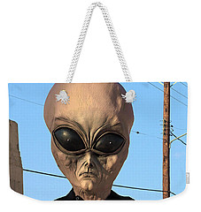 Alien Face At 6th Street Bridge Weekender Tote Bag