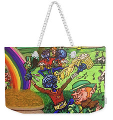 Weekender Tote Bag featuring the painting Alien Go Bragh by Similar Alien