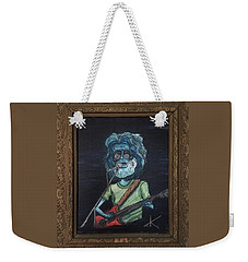 Weekender Tote Bag featuring the painting Alien Jerry Garcia by Similar Alien
