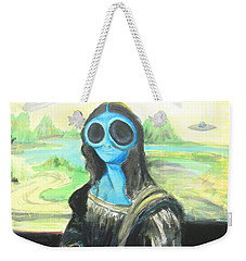 alien Mona Lisa Weekender Tote Bag