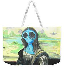 alien Mona Lisa Weekender Tote Bag