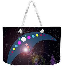 Weekender Tote Bag featuring the painting Alien Skies by James Williamson