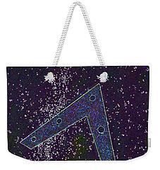 Weekender Tote Bag featuring the painting Alien Skies Ufo by James Williamson