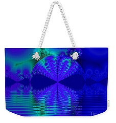 Alien Sunset Over Fantasy Lake Weekender Tote Bag