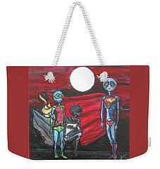 Alien Superheros Weekender Tote Bag by Similar Alien