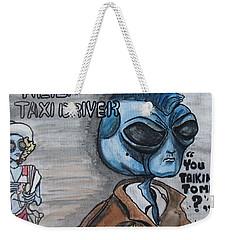 Alien Taxi Driver Weekender Tote Bag