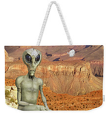 Alien Vacation - Grand Canyon Weekender Tote Bag by Mike McGlothlen
