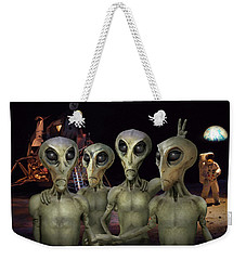 Alien Vacation - Kennedy Space Center Weekender Tote Bag by Mike McGlothlen