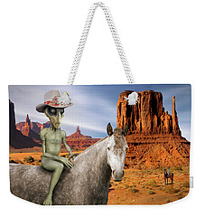 Alien Vacation - Monument Valley Weekender Tote Bag by Mike McGlothlen