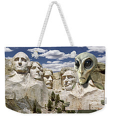 Alien Vacation - Mount Rushmore 2 Weekender Tote Bag by Mike McGlothlen