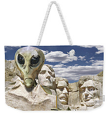 Alien Vacation - Mount Rushmore Weekender Tote Bag by Mike McGlothlen