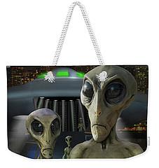 Alien Vacation - The Arrival  Weekender Tote Bag by Mike McGlothlen