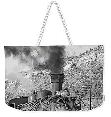 Weekender Tote Bag featuring the photograph All Aboard by Colleen Coccia