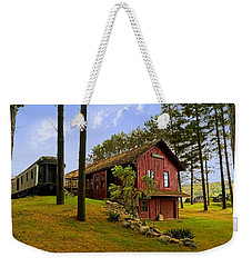 All Aboard Weekender Tote Bag by Judy Johnson