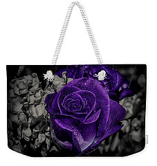 Weekender Tote Bag featuring the photograph All About Colors by Elaine Malott