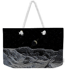 Weekender Tote Bag featuring the digital art All Alone by David Robinson