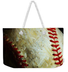 All American Pastime - Baseball - Square - Painterly Weekender Tote Bag