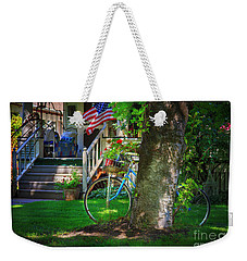 Weekender Tote Bag featuring the photograph All American Summer Bicycle by Craig J Satterlee
