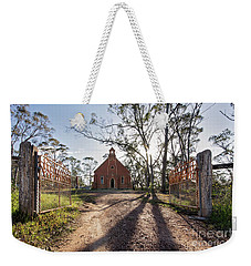Weekender Tote Bag featuring the photograph All Are Welcome by Linda Lees