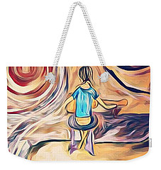 Weekender Tote Bag featuring the mixed media All Around Me by Jessica Eli