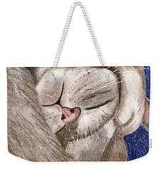 All Curled Up Weekender Tote Bag by Terry Taylor