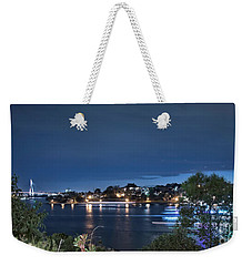 Weekender Tote Bag featuring the photograph All Lit Up by Elaine Teague