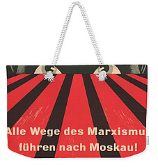 Weekender Tote Bag featuring the painting All Marxist Paths Lead To Moscow by Artistic Panda