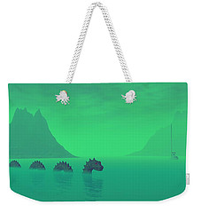 All Quiet In The Loch Weekender Tote Bag by Lyle Hatch